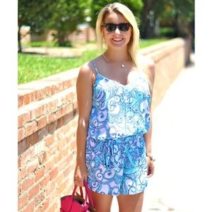 LILLY PULITZER DEANNA ROMPER SIZE M
